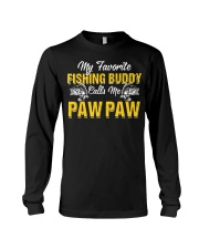 Awesome My Fishing Buddy Calls Me Paw Paw T- Long Sleeve Tee thumbnail