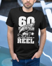 60th Birthday And Still Keeping It Reel Fish Classic T-Shirt apparel-classic-tshirt-lifestyle-front-45