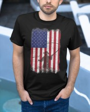 American Flag Fishing Shirt Fly Fishermen Sh Classic T-Shirt apparel-classic-tshirt-lifestyle-front-45