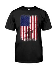 American Flag Fishing Shirt Fly Fishermen Sh Classic T-Shirt front