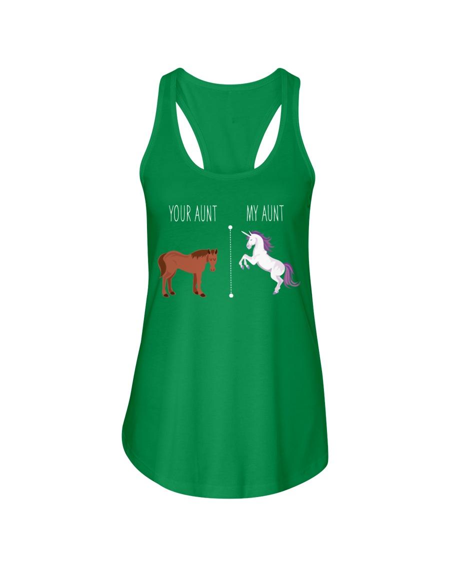Your Aunt My Aunt Horse Unicorn Ladies Flowy Tank