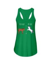 Your Aunt My Aunt Horse Unicorn Ladies Flowy Tank front