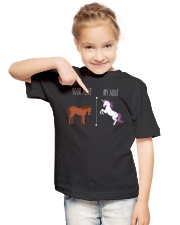 Your Aunt My Aunt Horse Unicorn Youth T-Shirt lifestyle-youth-tshirt-front-2