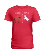 Your Aunt My Aunt Horse Unicorn Ladies T-Shirt front