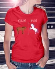 Your Aunt My Aunt Horse Unicorn Ladies T-Shirt lifestyle-women-crewneck-front-7