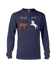 Your Aunt My Aunt Horse Unicorn Long Sleeve Tee front