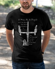 A Man On A Bicycle Classic T-Shirt apparel-classic-tshirt-lifestyle-front-50