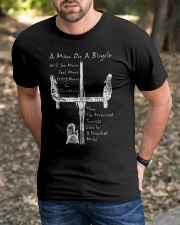 A Man On A Bicycle Classic T-Shirt apparel-classic-tshirt-lifestyle-front-52