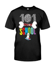 101 Days of School Dalmatian Dog Teachers Ki Classic T-Shirt front