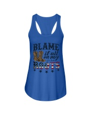 Available for a short time only Ladies Flowy Tank front