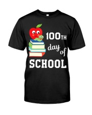 100th Day Of School Shirt Book Reader Primar Classic T-Shirt front