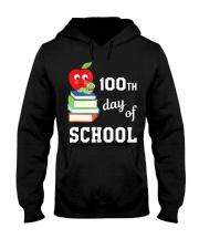100th Day Of School Shirt Book Reader Primar Hooded Sweatshirt thumbnail