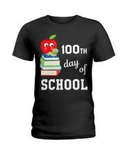 100th Day Of School Shirt Book Reader Primar Ladies T-Shirt thumbnail