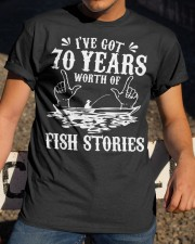 70th Birthday Fisherman T Shirt Funny Bass F Classic T-Shirt apparel-classic-tshirt-lifestyle-28