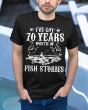 70th Birthday Fisherman T Shirt Funny Bass F Classic T-Shirt apparel-classic-tshirt-lifestyle-front-45