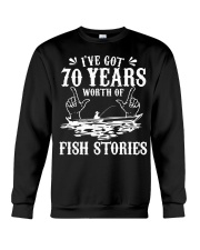 70th Birthday Fisherman T Shirt Funny Bass F Crewneck Sweatshirt thumbnail