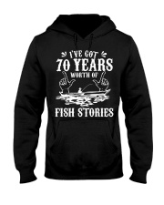 70th Birthday Fisherman T Shirt Funny Bass F Hooded Sweatshirt thumbnail