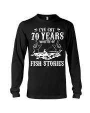 70th Birthday Fisherman T Shirt Funny Bass F Long Sleeve Tee thumbnail