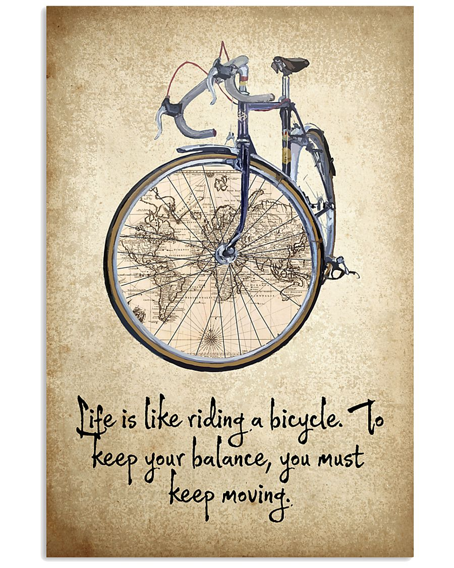 Life Is Like Riding A Bicycle 11x17 Poster