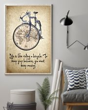 Life Is Like Riding A Bicycle 11x17 Poster lifestyle-poster-1