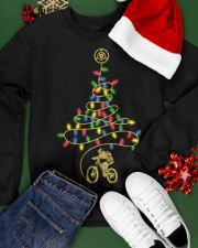 Bicycle Christmas Tree v1 Crewneck Sweatshirt apparel-crewneck-sweatshirt-lifestyle-front-21