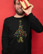 Bicycle Christmas Tree v1 Crewneck Sweatshirt apparel-crewneck-sweatshirt-lifestyle-front-22