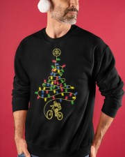 Bicycle Christmas Tree v1 Crewneck Sweatshirt apparel-crewneck-sweatshirt-lifestyle-front-32