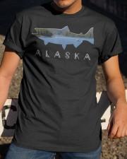 Alaskan King Salmon with Fishing Boat Saltwa Classic T-Shirt apparel-classic-tshirt-lifestyle-28