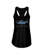 Alaskan King Salmon with Fishing Boat Saltwa Ladies Flowy Tank thumbnail