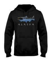 Alaskan King Salmon with Fishing Boat Saltwa Hooded Sweatshirt thumbnail