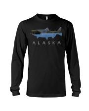 Alaskan King Salmon with Fishing Boat Saltwa Long Sleeve Tee thumbnail
