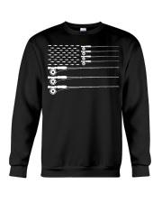 American Flag Fly Fishing Rod Trout Patriot  Crewneck Sweatshirt thumbnail