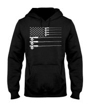 American Flag Fly Fishing Rod Trout Patriot  Hooded Sweatshirt thumbnail