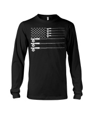 American Flag Fly Fishing Rod Trout Patriot  Long Sleeve Tee thumbnail