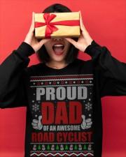Proud Dad Of An Awesome Road Cyclist Crewneck Sweatshirt apparel-crewneck-sweatshirt-lifestyle-front-18