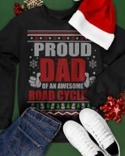 Proud Dad Of An Awesome Road Cyclist Crewneck Sweatshirt apparel-crewneck-sweatshirt-lifestyle-front-21