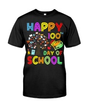 100th Day of School Teachers Kids Educationa Classic T-Shirt front