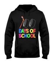 100 Days of School Hockey Puck Stick Funny T Hooded Sweatshirt thumbnail