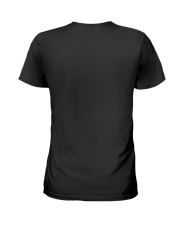 I Have A Husband Who Is A Mountain Biker Ladies T-Shirt back