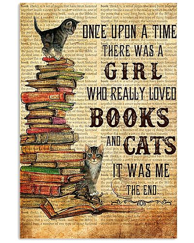 Once Upon A Time A Girl Love Books Cats Poster