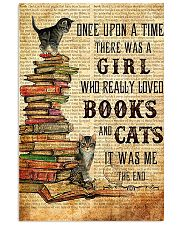 Once Upon A Time A Girl Love Books Cats Poster 16x24 Poster front