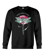 Dragonfly whisper words of wisdom let it be  Crewneck Sweatshirt thumbnail