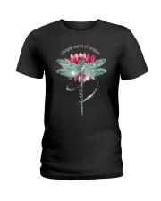 Dragonfly whisper words of wisdom let it be  Ladies T-Shirt thumbnail
