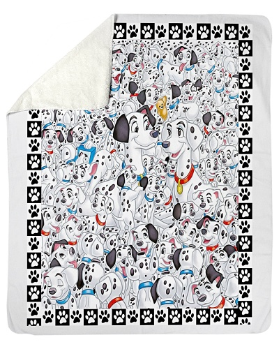 Dalmatian Dog Lover Quilt Blanket