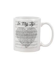 The Beatles In My Life Heart Lyrics Mug White  Mug thumbnail