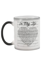 The Beatles In My Life Heart Lyrics Mug White  Color Changing Mug color-changing-left