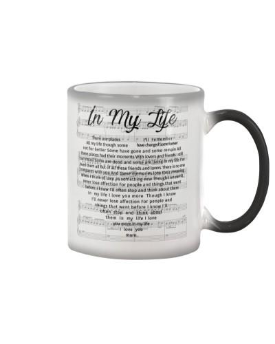 The Beatles In My Life Heart Lyrics Mug White
