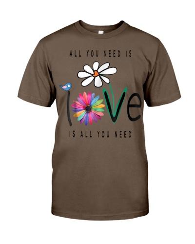 Love One Another Daisy Bird Hippie Flower Gift