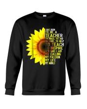 I Was Born To Be A Teacher Shirt Sunflower Gifts Crewneck Sweatshirt thumbnail