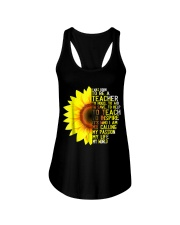 I Was Born To Be A Teacher Shirt Sunflower Gifts Ladies Flowy Tank thumbnail